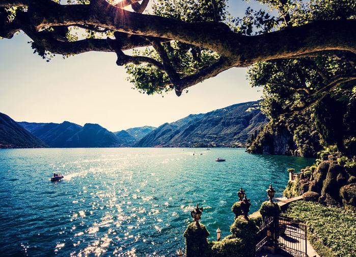 vy från comosjöns terrasser