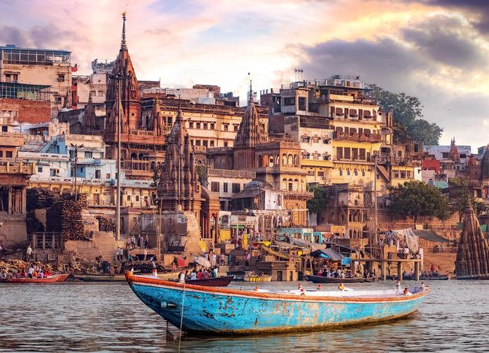 Båt på Ganges
