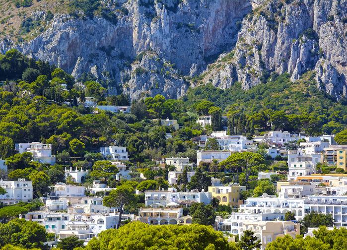 Traditionella hus på Capri