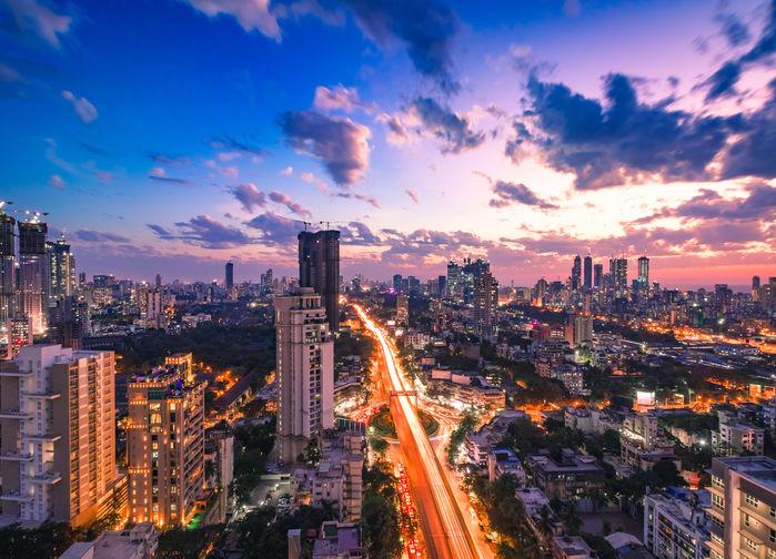 Solnedgång i Mumbai