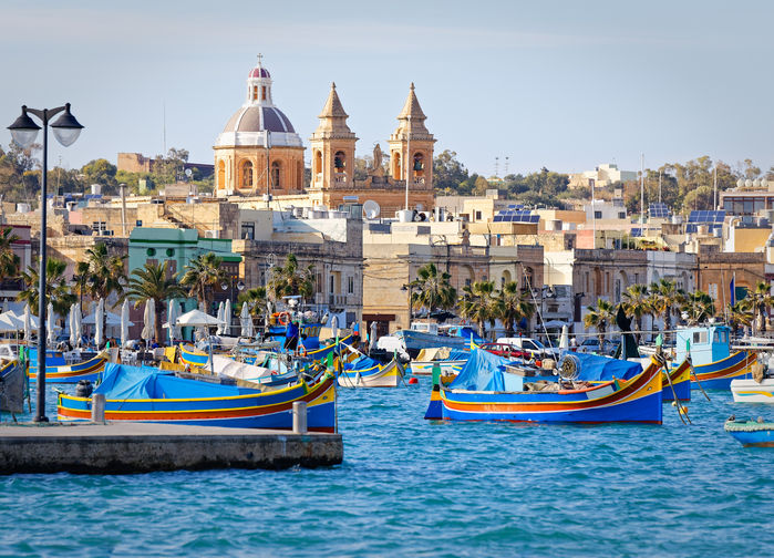 Fiskebåtar i Marsaxlokk