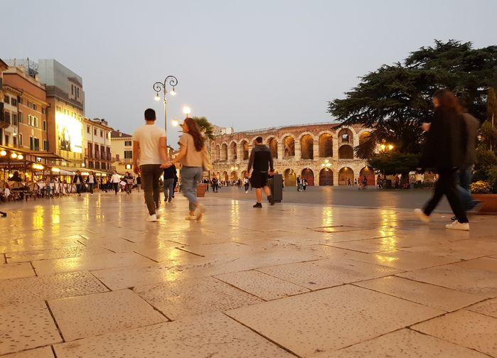 Arenan i Verona kvällstid