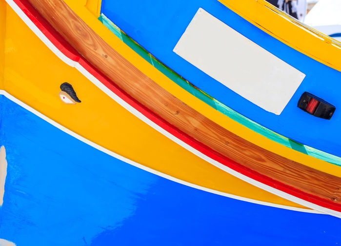 Detalj fiskbåt Marsaxlokk