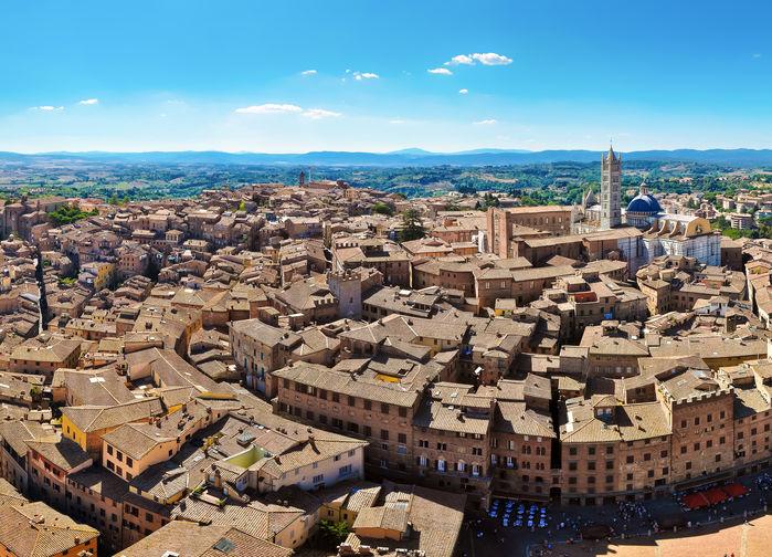 Staden Siena från ovan