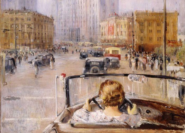 Yuriy Pimenov; New Moscow 1937.The State Tretyakov Gallery