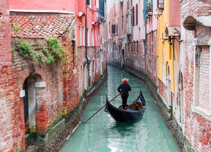 Gondolförare i Venedigs kanaler