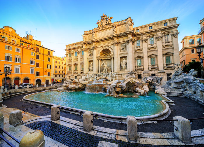 Trevifontänen i Rom
