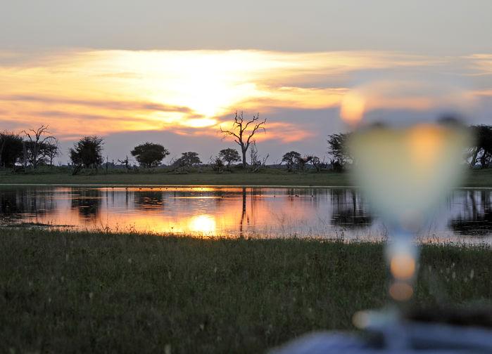 Solnedsgångstur i Hwange